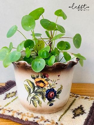 Vintage pot met schulprand