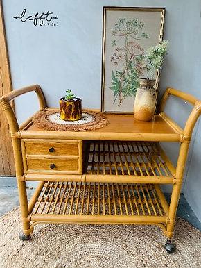 Vintage Bamboe Trolley