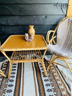 Vintage rotan tafel