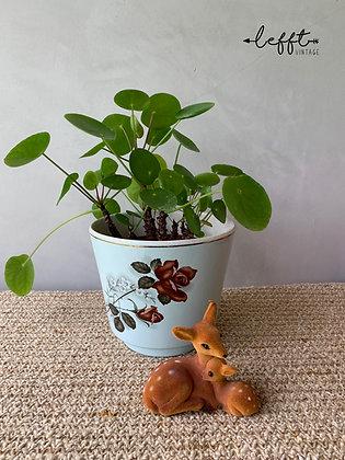 Vintage Keramiek Pot Bruintinten