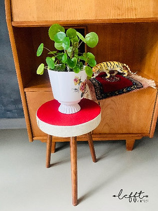 Sixties  krukje met rood skai