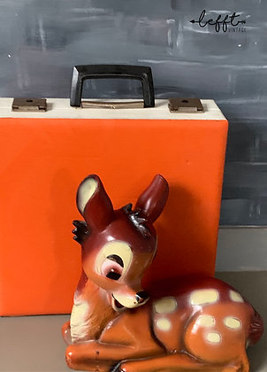 Retro Oranje Jaren 70 Platenkoffer