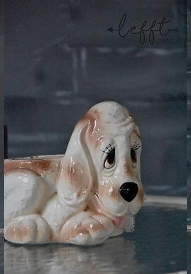 Vintage Hond pot/beeld
