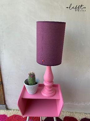 Vintage Lamp Roze/ Paars