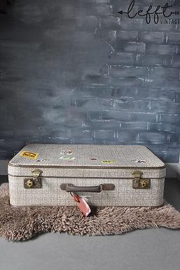 Oude beige koffer