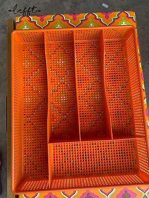 Retro Seventies Oranje Bestekbak