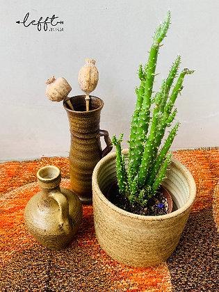 Bruine vintage pot