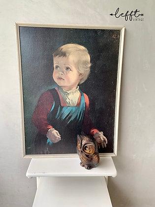 Vintage  Schilderij Huilende Jongen 60's