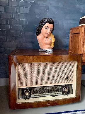 Vintage Siemens Audiomeubel Jaren 50