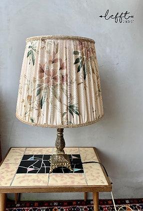 Vintage Tafellamp Stoffen Kap Met Bloemen
