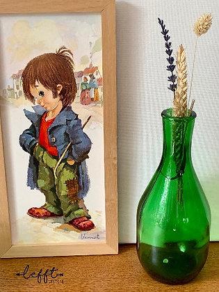 Vintage Vaas Groen Glas