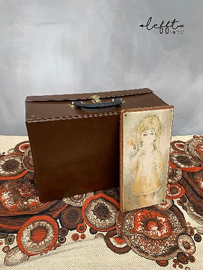 Retro bruin koffertje