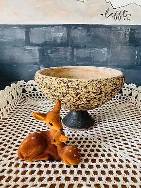 Ronde berkenbast Chamotte pot