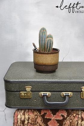 Groene vintage koffer