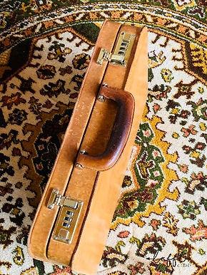 Vintage leren attaché koffer