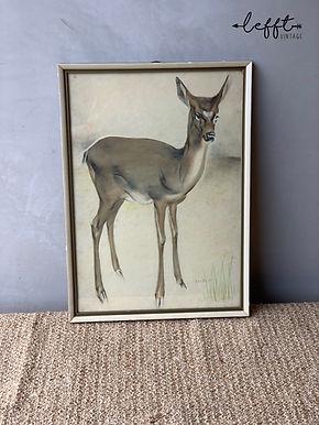 Vintage Schilderij Hert Van Meegeren