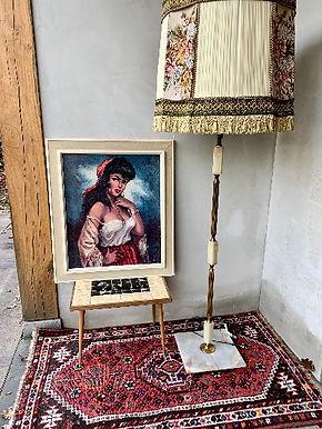 Grote Vintage Vloerlamp Jaren 50