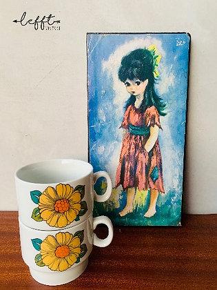 Schilderij meisje Ydille Falconi