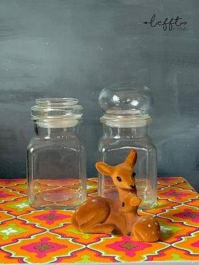 Set Glazen Stolp Flessen