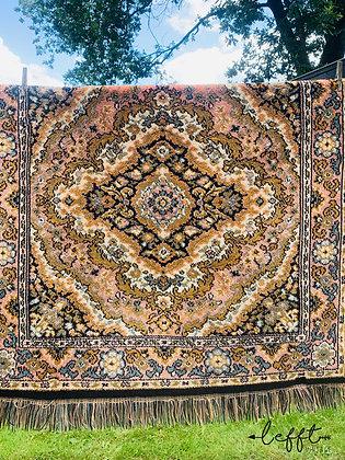 Vintage tapijt zachte kleuren