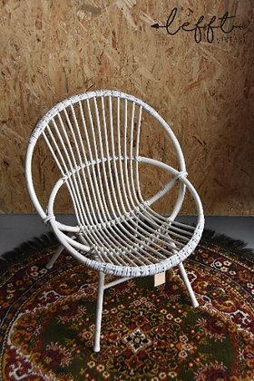 Rotan witte stoel van Rohe