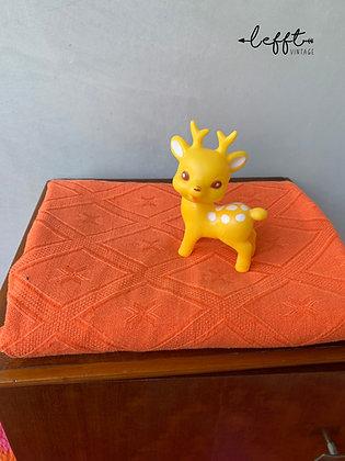 Retro Oranje Kleed Stof