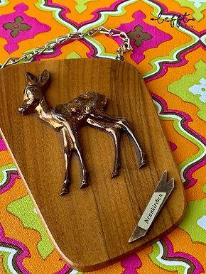 Vintage Wandhanger Bambi 24k Goldplated