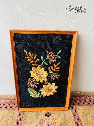 Schilderij herfstbloemen