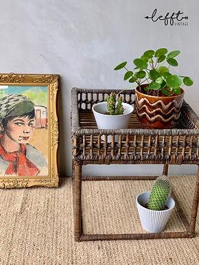 Vintage Rotan Bamboe (Plant) Tafel
