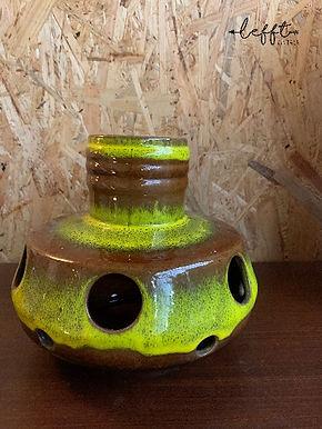 Vintage groene keramieke hanglamp
