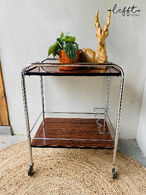 Vintage serving trolley 50's
