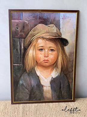 Vintage Schilderij zigeunerjongetje Bragolin