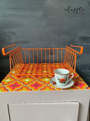 Retro Oranje Kast Mand Jaren 70