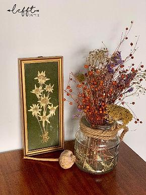 Jaren 70 lijst met droogbloemen