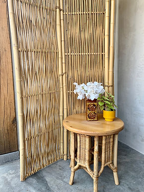 Ronde Rotan/ Bamboe Tafel