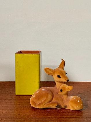 Mini Vintage Vaas Geel