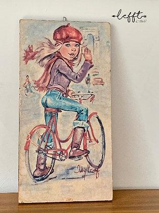 Vintage schilderij Idylle Falconi
