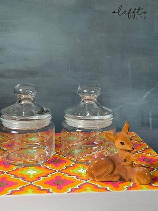 Set Glazen Stolp Flessen Rond