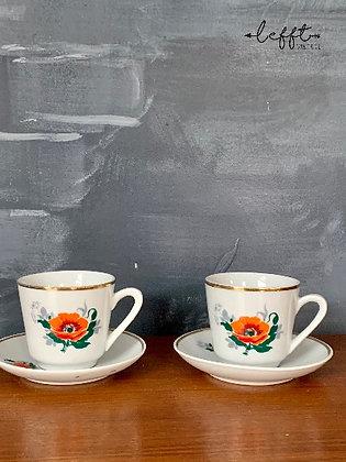 Retro Espresso Kopje met Schotel
