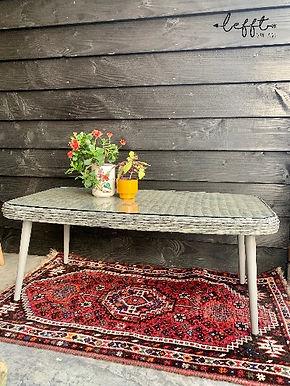 Rotan Vintage (Tuin) Tafel  Grijs