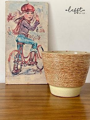 Gele Ribbel Vintage Pot Adco