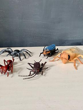 Vintage Set Rubber Insecten