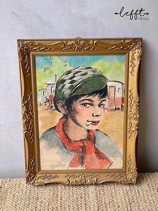 Vintage Jaren 60 Schilderij J. van Wolde
