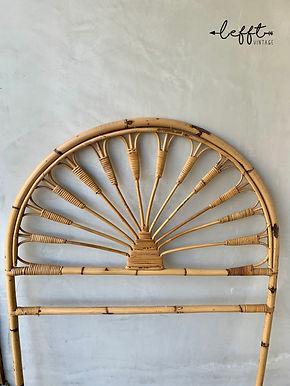 Vintage Bamboe Rotan Hoofdbord Jaren 70