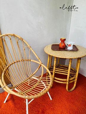 Vintage bamboe tafel
