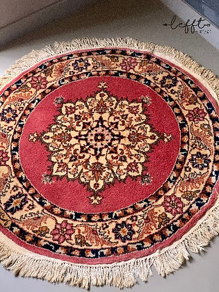 Rond Roze Perzisch Tapijt