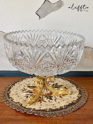 Schaal Vintage Kristal Met Goud