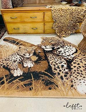 Jute vloerkleed met tijgers