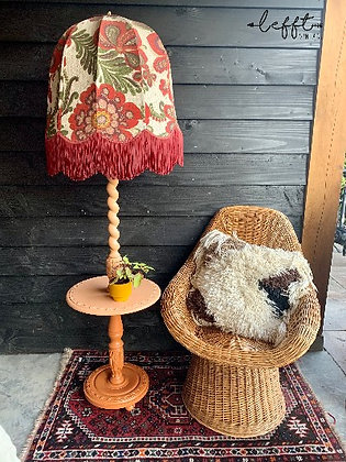Vintage Staande Lamp Met Tafeltje