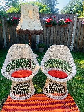 Vintage rieten stoelen